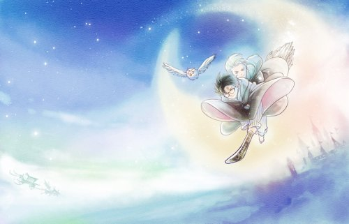 flying_under_the_moon_by_woshibbdou-d3ao37j
