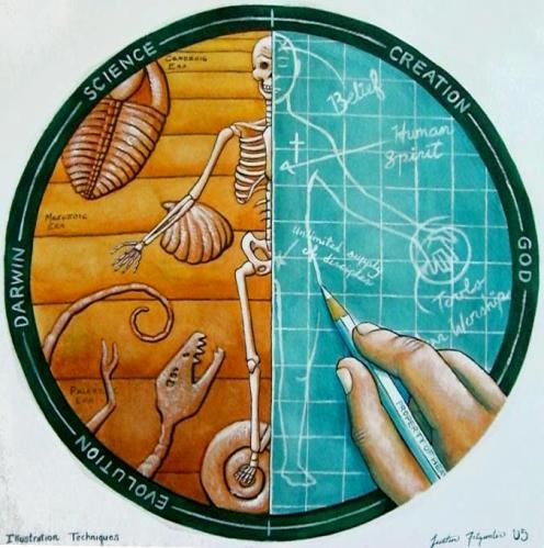 Evolution_vs__Creation_by_geekblz