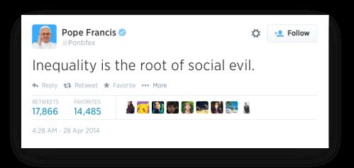 Pope Francis Tweet -A