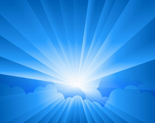 Sun-Burst-with-Rays-form-Clouds-Vector