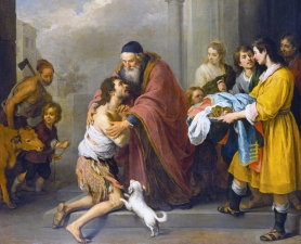 Bartolomé Esteban Murillo, The Return of the Prodigal Son, Spanish, 1617 - 1682, 1667/1670, oil on canvas, Gift of the Avalon Foundation