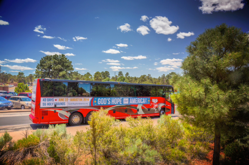 Bus at Grand Canyon