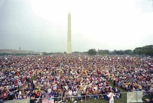 washington monument crowd