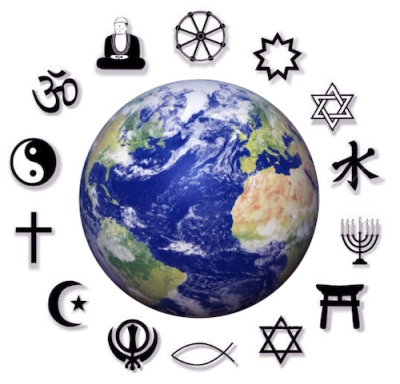 An image of religions around the world